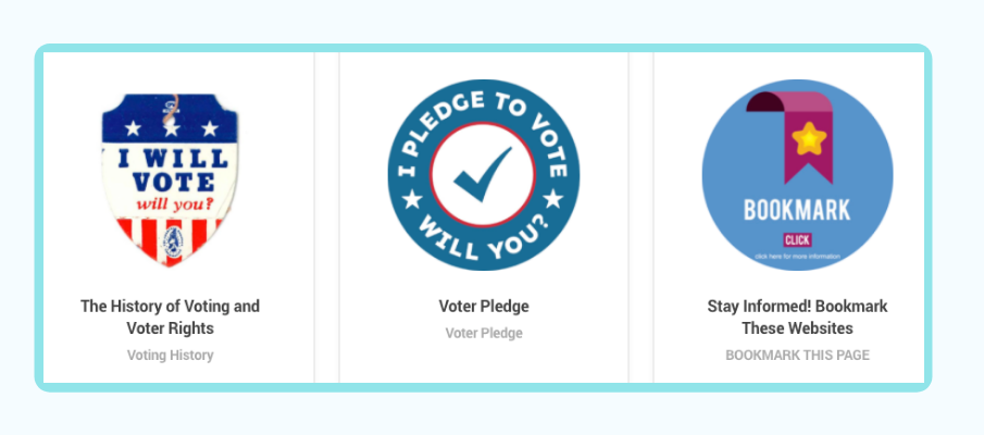 Badges for Dekalb Votes Challenge