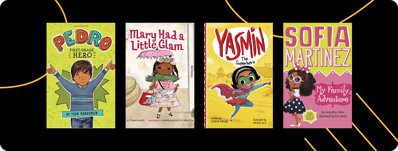 An image showing diverse books selected by the Prince George's County Memorial Library System