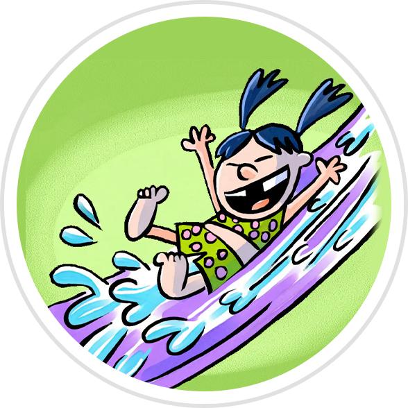 Water Slide Badge