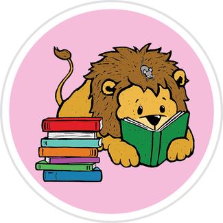 Lion Reading Badge