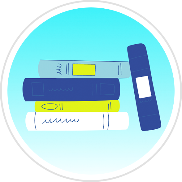 Stack of Books Badge