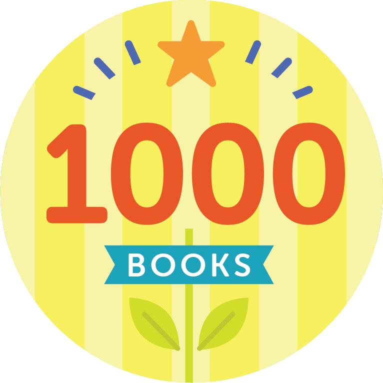 1000 Books Badge