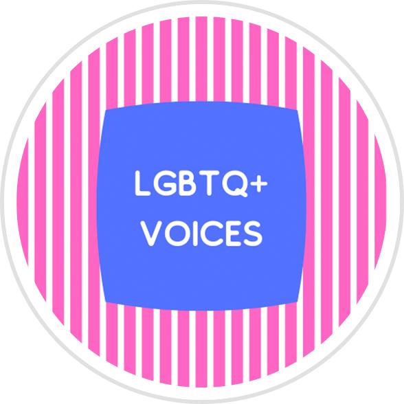 LGBTQ+ Voices Badge