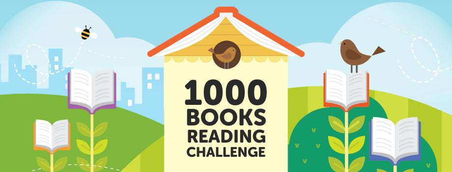 1,000 Books Reading Challenge Banner