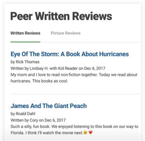 Written & Picture Reviews
